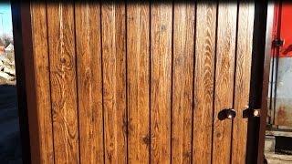 Забор из профлиста своими руками! С ОТКАТНЫМИ ВОРОТАМИ/ Цены на материалы(, 2016-12-14T08:52:43.000Z)