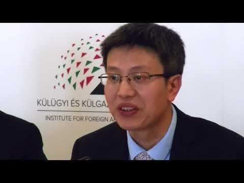 """Chengli Liu (CCTB) at the 16+1 academic conference in Budapest, 2017"""""""