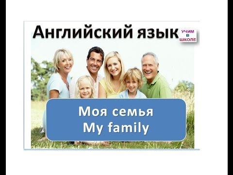 Моя семья -Урок 1 / Английский язык для начинающих /Английский для детей / Английский с нуля