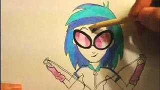 How To Draw DJ Pon 3  From My Little Pony Equestria Girls Rainbow Rocks