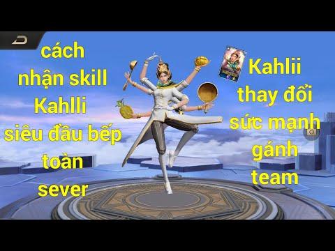 (VTTChennel) nhận Skin toàn sever Kahlii siêu đầu bếp đi mid như sp-Kahlii đi mid gánh team cực đễ