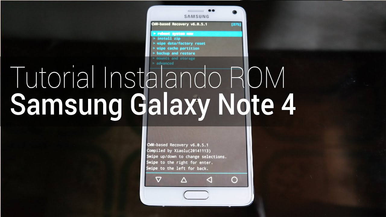 Instalando uma ROM customizada no Galaxy Note 4 [tutorial