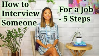 How to Interview Someone - How to Recruit a Good Job Candidate (4 of 5)
