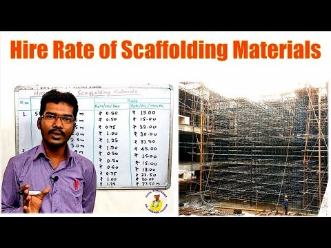 Hire Rate Of Scaffolding Materials | Scaffolding Materials On Rent |