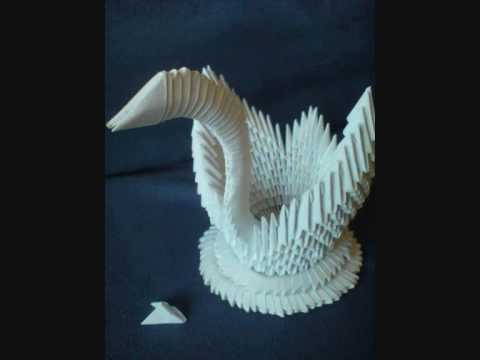How To Make A 3d Origami Swan Tutorial By Kleinerchaotberlin Youtube