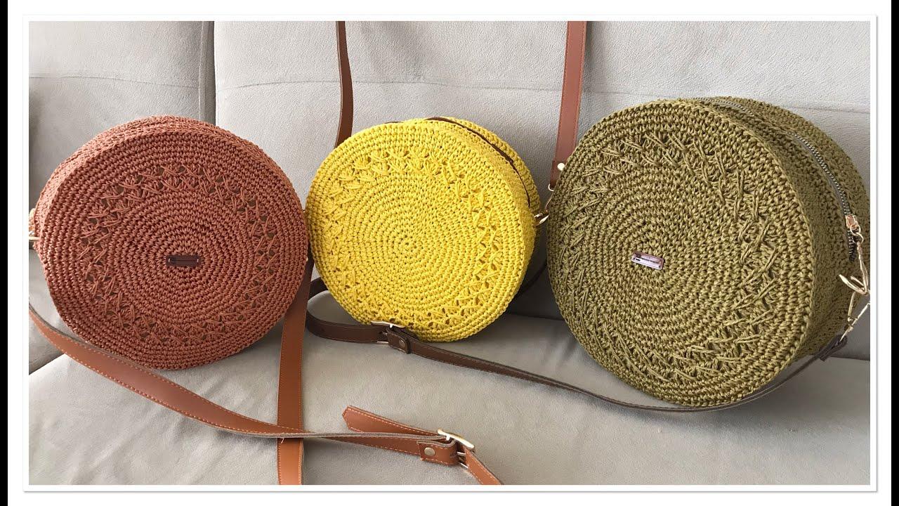 Yazın trendi Hasır Çanta yapılışı / Kağıt ip ve Halat ip ile çanta yapılışı
