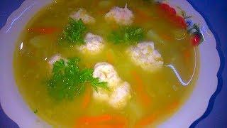 Гороховый суп с куриными фрикадельками/Первое Горячее блюдо/Рецепт  Супа с Фрикадельками