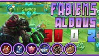 How Fabiens top global Aldous raise Savage 1 vs 5 counter in Mobile Legends