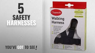Top 10 Safety Harnesses [2018]: Clippasafe Walking Harness and Reins (Black)