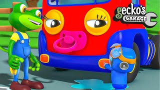 Baby Truck's Pink Dummy|Gecko's Garage|Funny Cartoon For Kids|Learning Videos For Toddlers