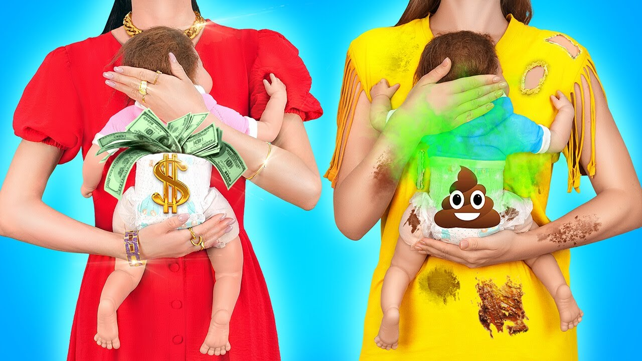 Download RICH PREGNANT VS BROKE PREGNANT    Funny Pregnancy Moments And Ideas by 123 GO!