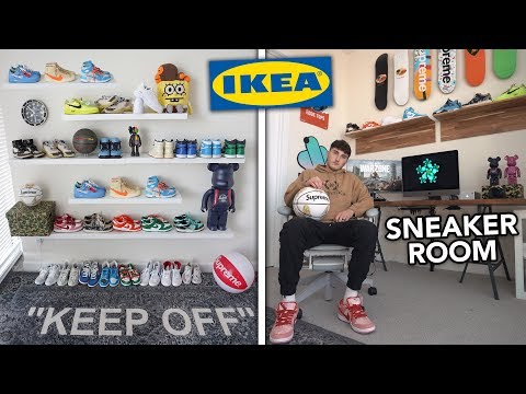 Ultimate Sneaker Room Makeover (IKEA SNEAKER ROOM)