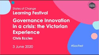 Governance Innovation in a crisis: the Victorian Experience