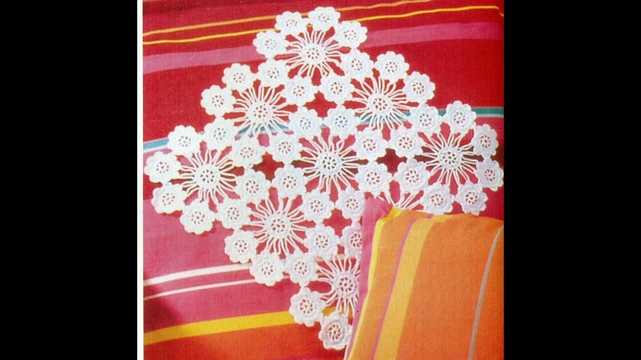Patrón Para tejer Carpeta/tapete con flores a crochet - YouTube