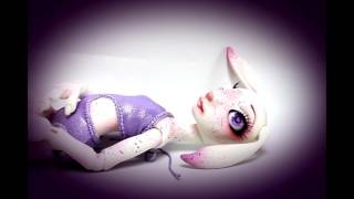 OOAK Art resin ball jointed Doll Luna by Tina White