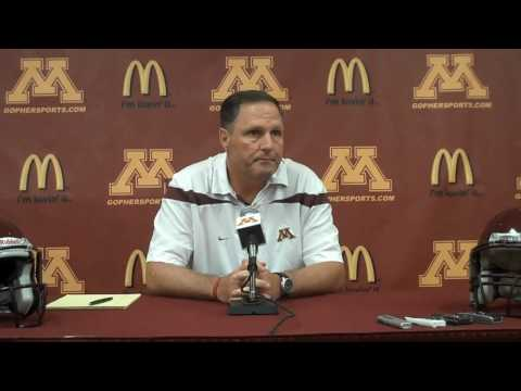 University of Minnesota Football Discusses Training Camp August 5, 2010.mp4