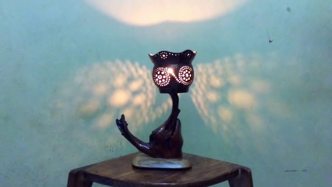 Terbaru Model Lampu Hias Meja Dari Batok Kelapa Dan Akar Kayu
