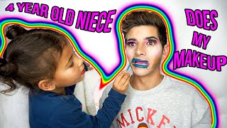 MY 4 YEAR OLD NIECE DOES MY MAKEUP!   KEVIN RUPARD