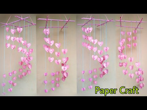 Paper Se Jhumar Banaye | DIY Wind Chime with Beautiful Paper roses | Wall Hanging | Paper Crafts