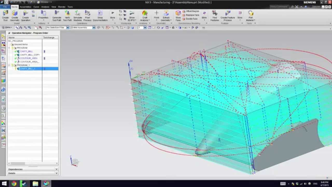 CNC G Code Manufacturing with NX (Unigraphics)