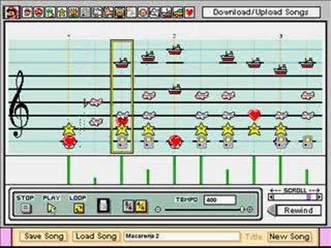 Macarena in Mario Paint Composer