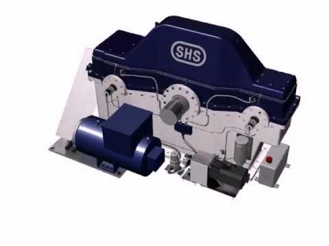 SHS Schiffsgetriebe 2x662 kW Diesel & 150 kW Generator