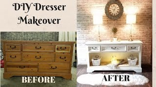 DIY Dresser Makeover/ Upcycling Old Furniture/ Dresser Makeover/Furniture Transformation on a Budget