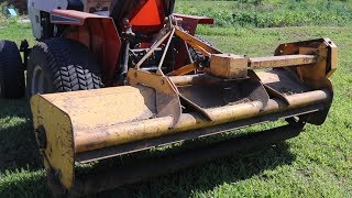 1970's 2000 RPM Cat 0 Mott Flail Mower for Simplicity Power Max Tractors