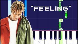 Juice WRLD - Feeling Piano Tutorial EASY (Piano Cover)
