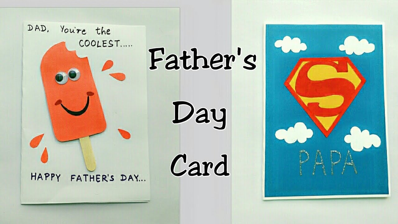 2 father u0026 39 s day card ideas for kids   father u0026 39 s day card