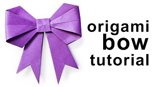 Origami - How to make a paper Bow/Ribbon
