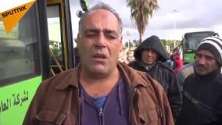 بالفيديو : لهذا السبب ركب سكان حلب المتواجدون في اللاذقية الباصات الخضراء