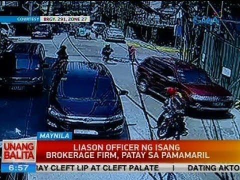Liaison officer ng isang brokerage firm, patay sa pamamaril
