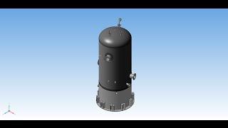 Емкостной цилиндрический аппарат 3D