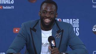 Draymond Green postgame interview / Warriors vs Cavaliers Game 2 / 2018 NBA Finals