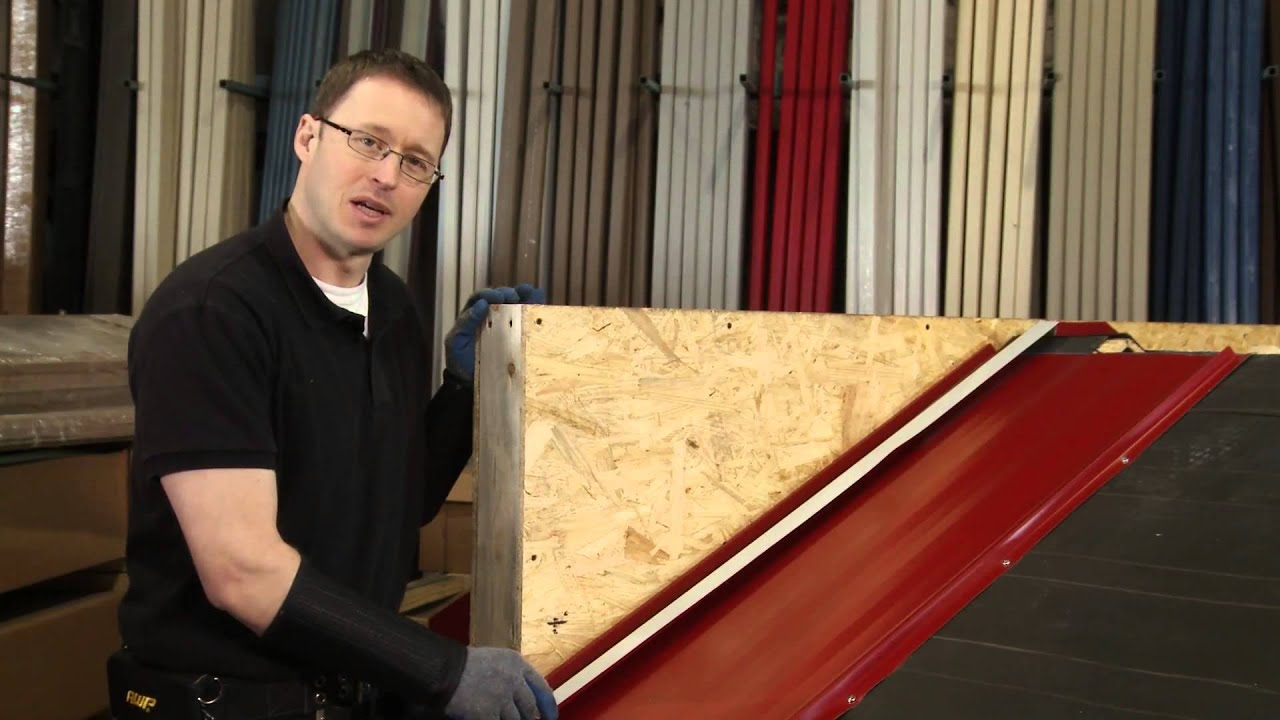 How To Install Sidewall Trim Abc Sl 16 174 Metal Roofing