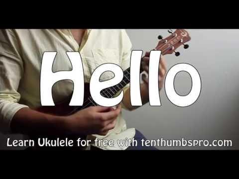 Hello - Adele - Ukulele Tutorial - Easy and Studio Versions