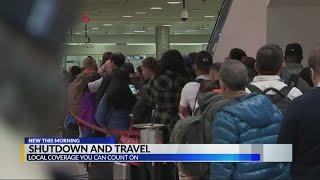 Shutdown affecting travel