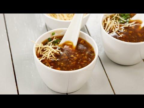सबसे आसान तरीका रेस्टोरेंट वाला मनचाव सूप - veg manchow soup restaurant recipe - cookingshooking