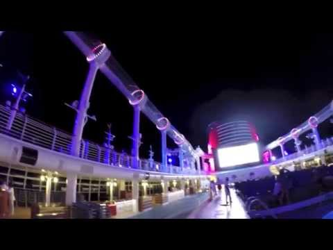 [HD] Aqua Duck : Night Time - Water Coaster aboard the Disney Dream Cruise Ship