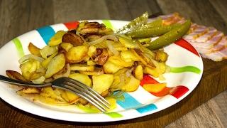 Жареная картошка. Как вкусно жарить картошку. Готовим простые рецепты от wowfood.club