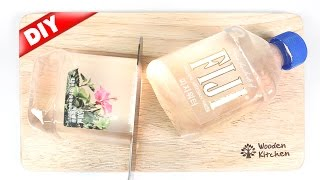 DIY FIJI WATER JELLY !! Bottled water Pudding 水信玄餅