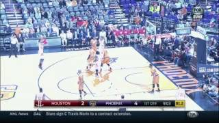 Dwight Howard makes a 3-pointer against Phoenix