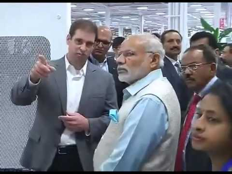 PM Modi visits Tesla Motors in Palo Alto, California