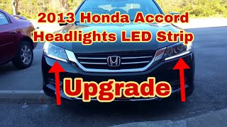 2013 Accord DRL led strip upgrade