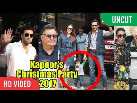 UNCUT - Kapoor Family Christmas Party 2017   Shashi Kapoor's House   Ranbir, Kareena, Saif, Karishma