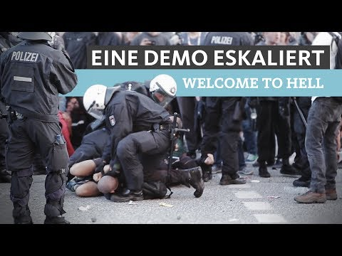 """Gewaltbereite Linke vs. Polizei - Teil 1 - Zwischen den Fronten """"Welcome to Hell"""""""