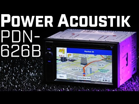 Power Acoustik PDN-626B Double DIN Navigation