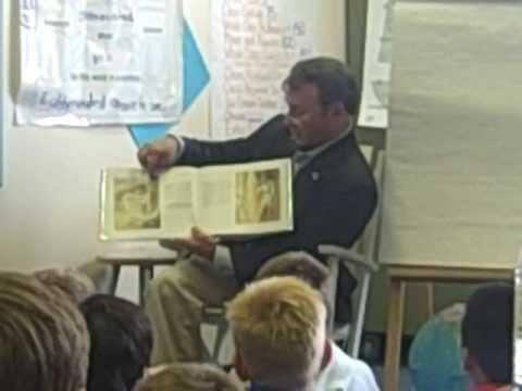 Camillo reading to North Mianus school kids