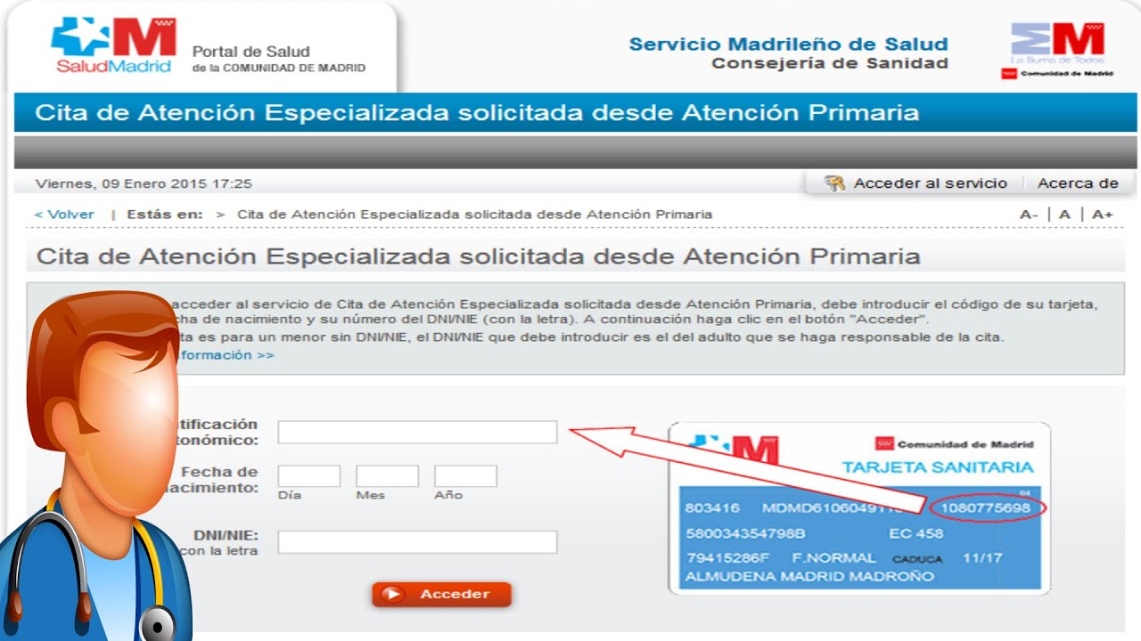 Cita Especialista Pedir Cita Por Internet Médico Especialista Madrid